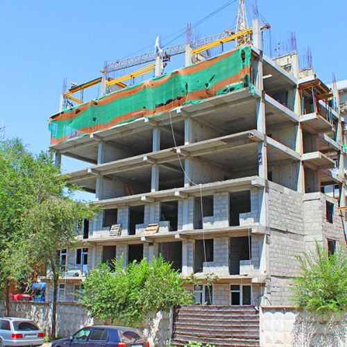 Возведено 10 этажей   ЖК на Казыбек Би — Досмухамедова